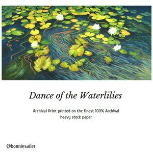 "PRINT – ""DANCE OF THE WATERLILIES"" 6 x 12"